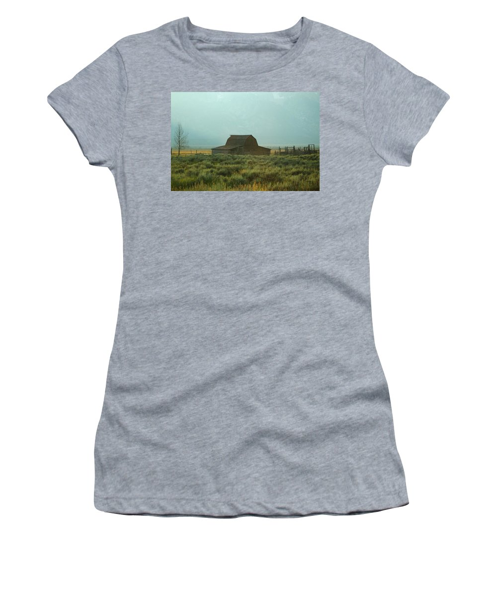 Barn Women's T-Shirt featuring the photograph Oldest Barn In The Country by Catie Canetti