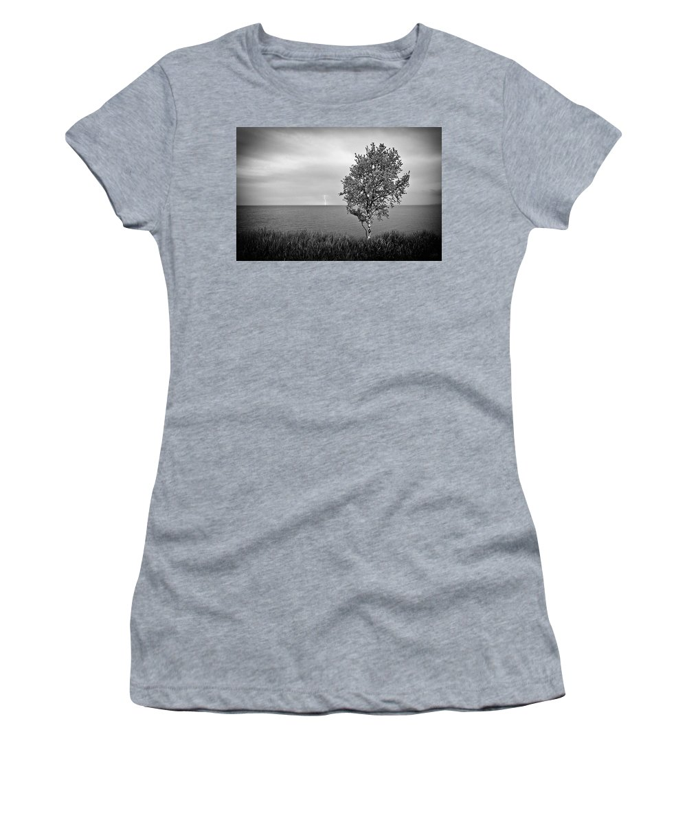 Lake Superior Women's T-Shirt featuring the photograph One On One by Doug Gibbons