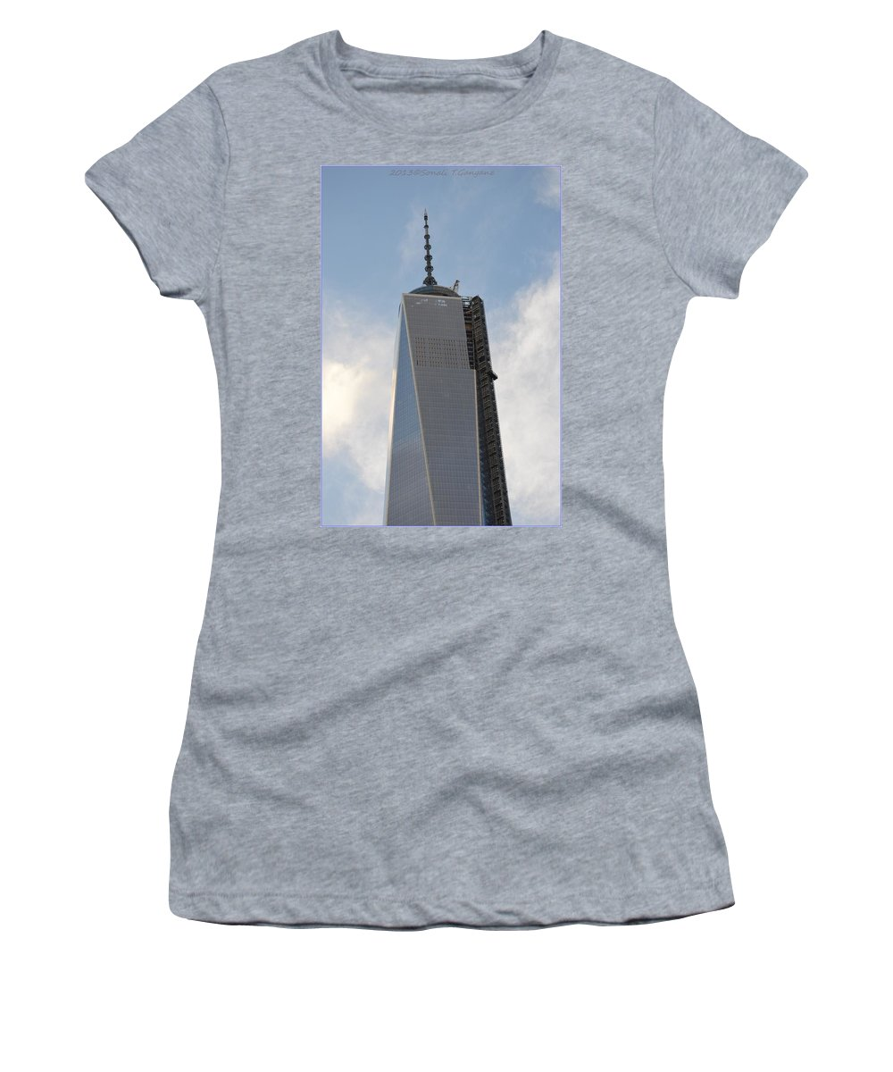 1 World Trade Center Women's T-Shirt featuring the photograph One World Trade Center by Sonali Gangane