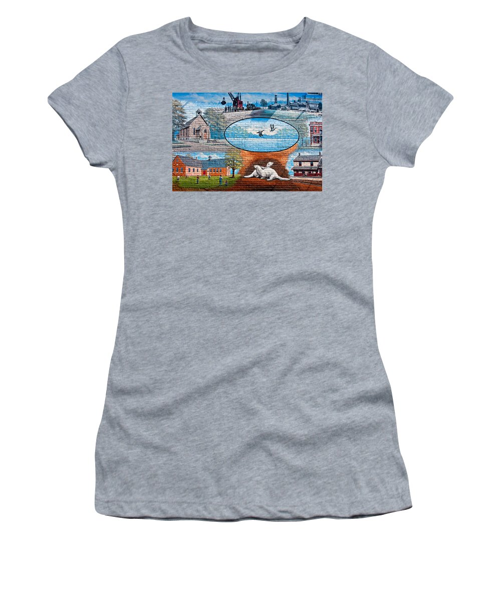 Ontario Women's T-Shirt featuring the photograph Ontario Heritage Mural by Steve Harrington