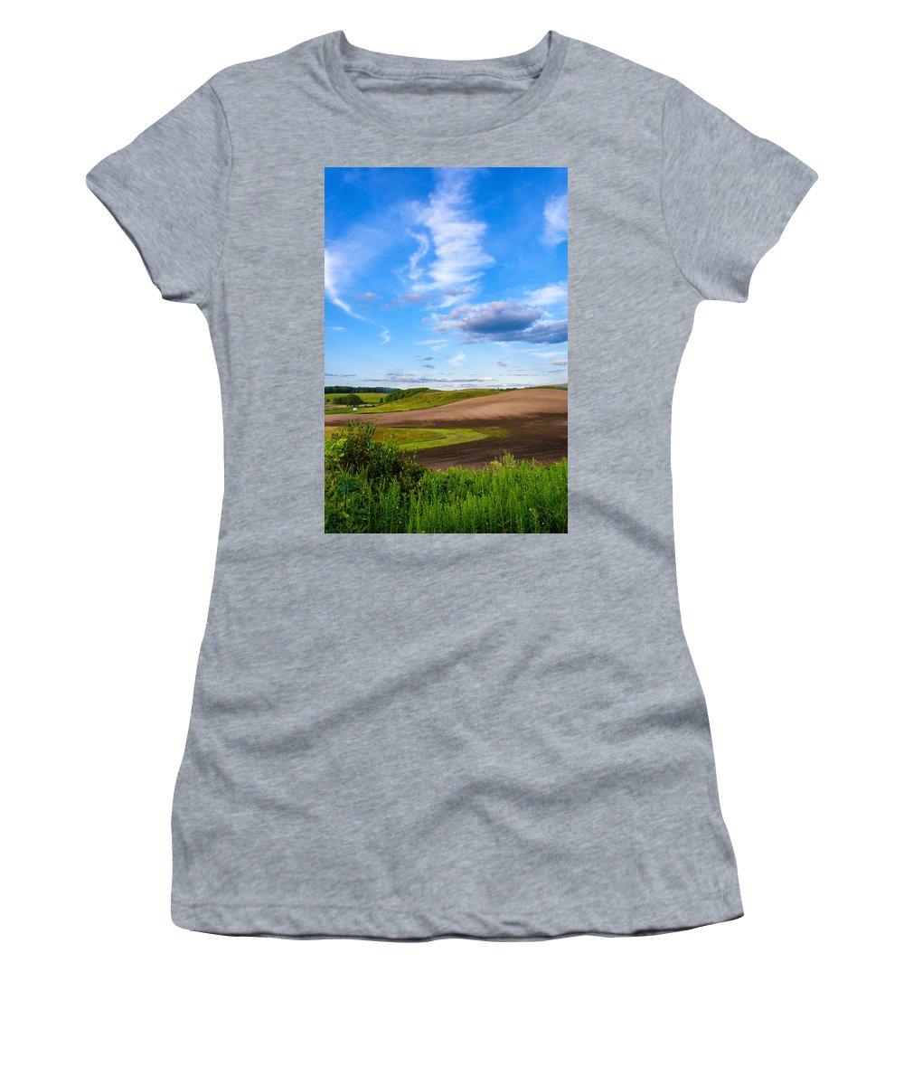 Landscape Women's T-Shirt featuring the photograph Ontario Interlude by Steve Harrington