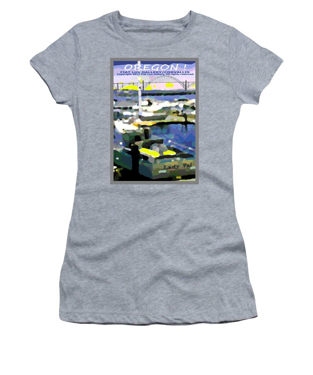 Newport Women's T-Shirt featuring the digital art Oregon IIi by Michael Moore