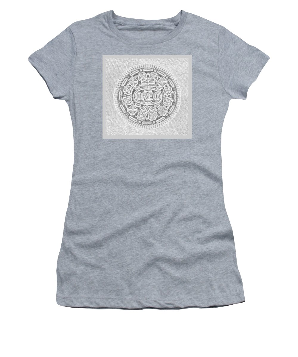 Oreo Women's T-Shirt featuring the photograph Oreo In Grey2 by Rob Hans