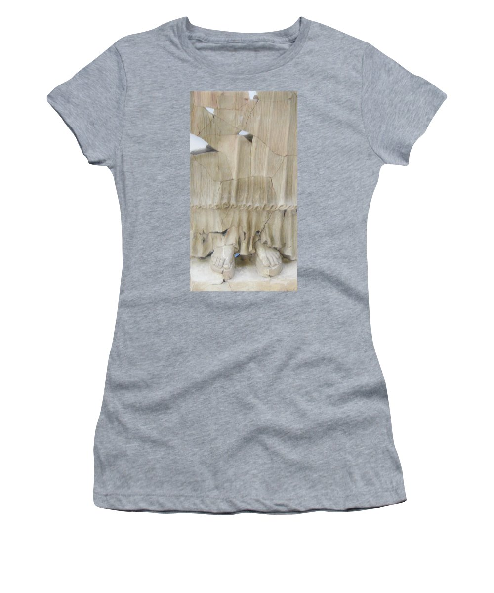 Statues Women's T-Shirt (Athletic Fit) featuring the photograph Original Goddess by Candee Lucas