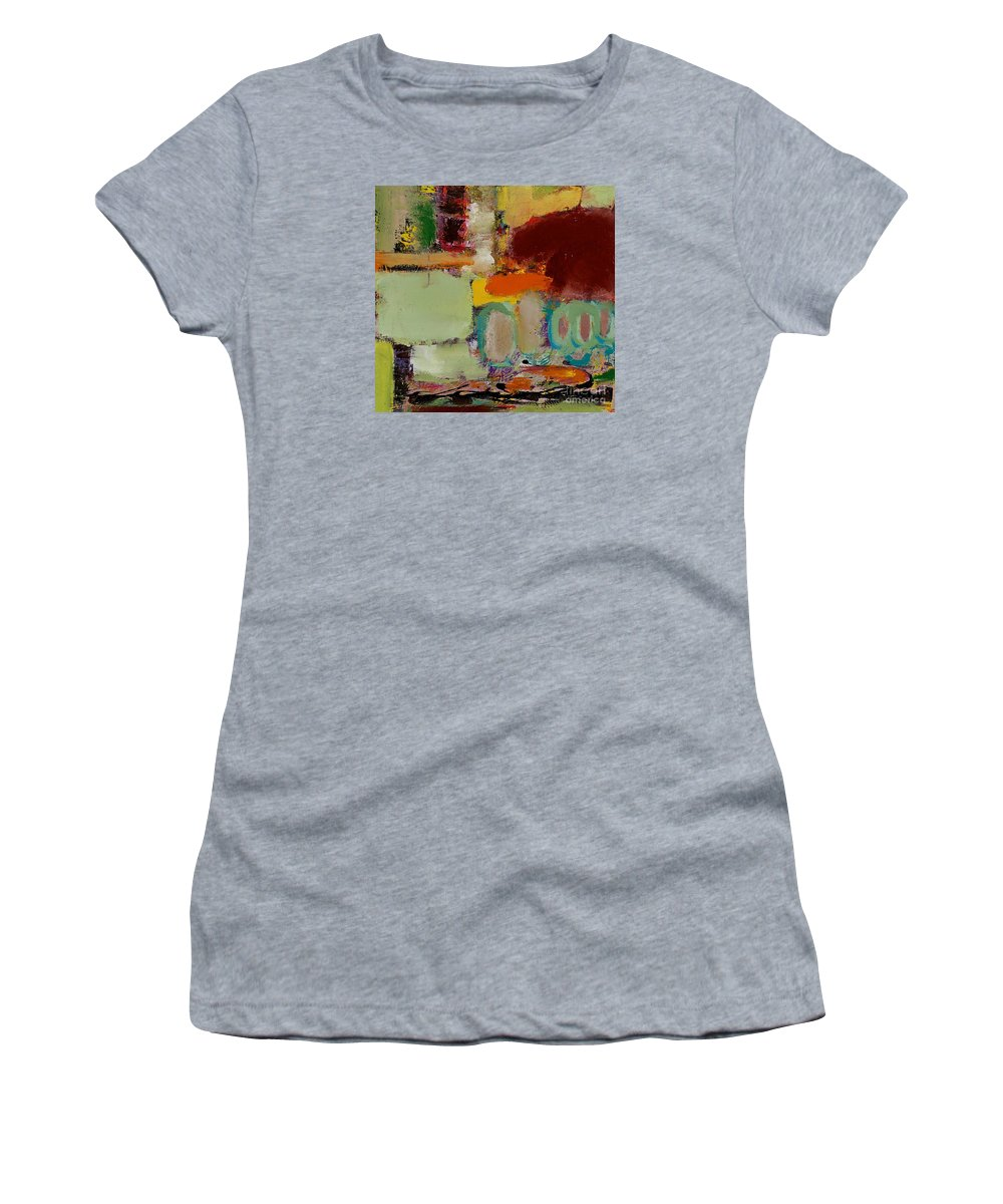 Landscape Women's T-Shirt (Athletic Fit) featuring the painting Over There by Allan P Friedlander