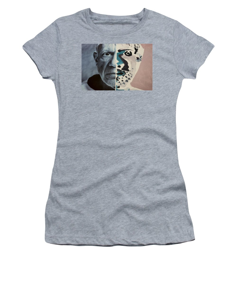 Pablo Picasso Women's T-Shirt (Athletic Fit) featuring the photograph Pablo by Rob Hans