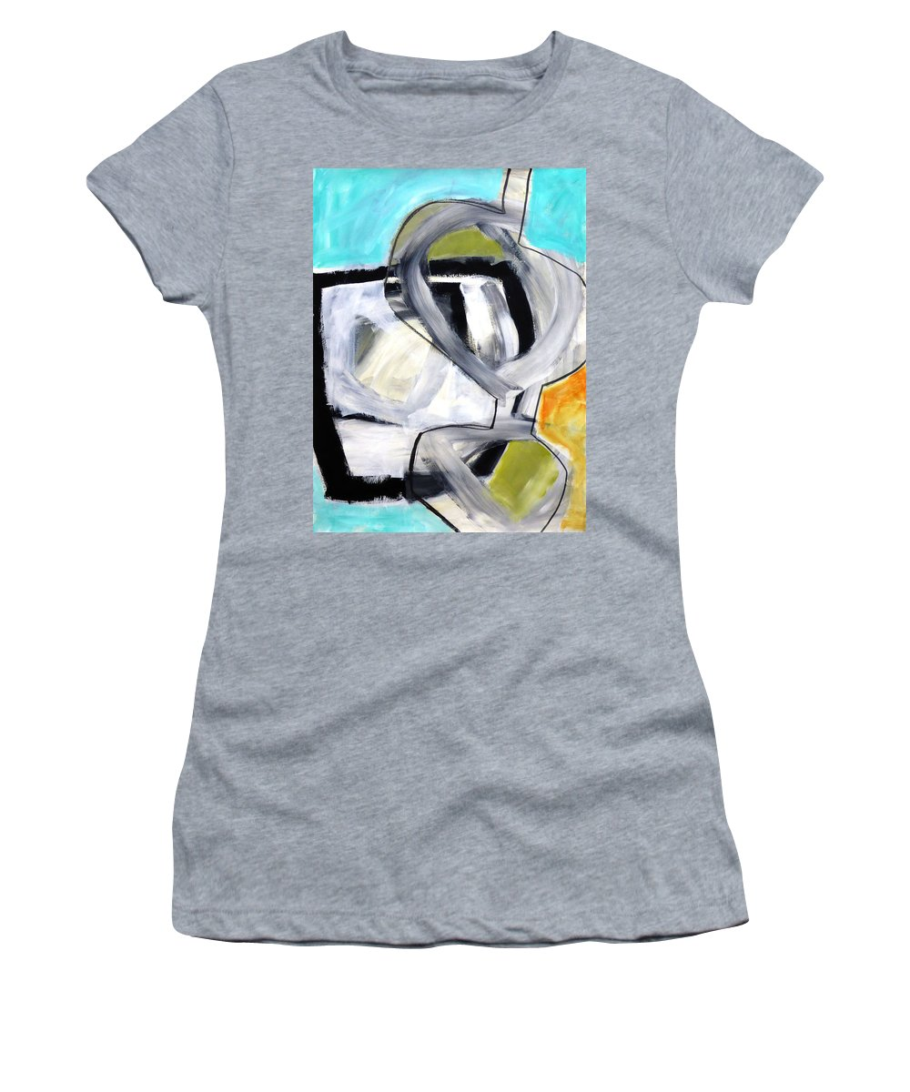 Keywords: Abstract Women's T-Shirt featuring the painting Paint Improv 12 by Jane Davies
