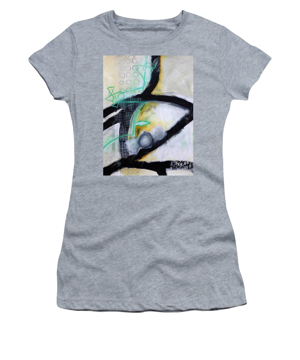 Keywords: Abstract Women's T-Shirt featuring the painting Paint Improv 5 by Jane Davies