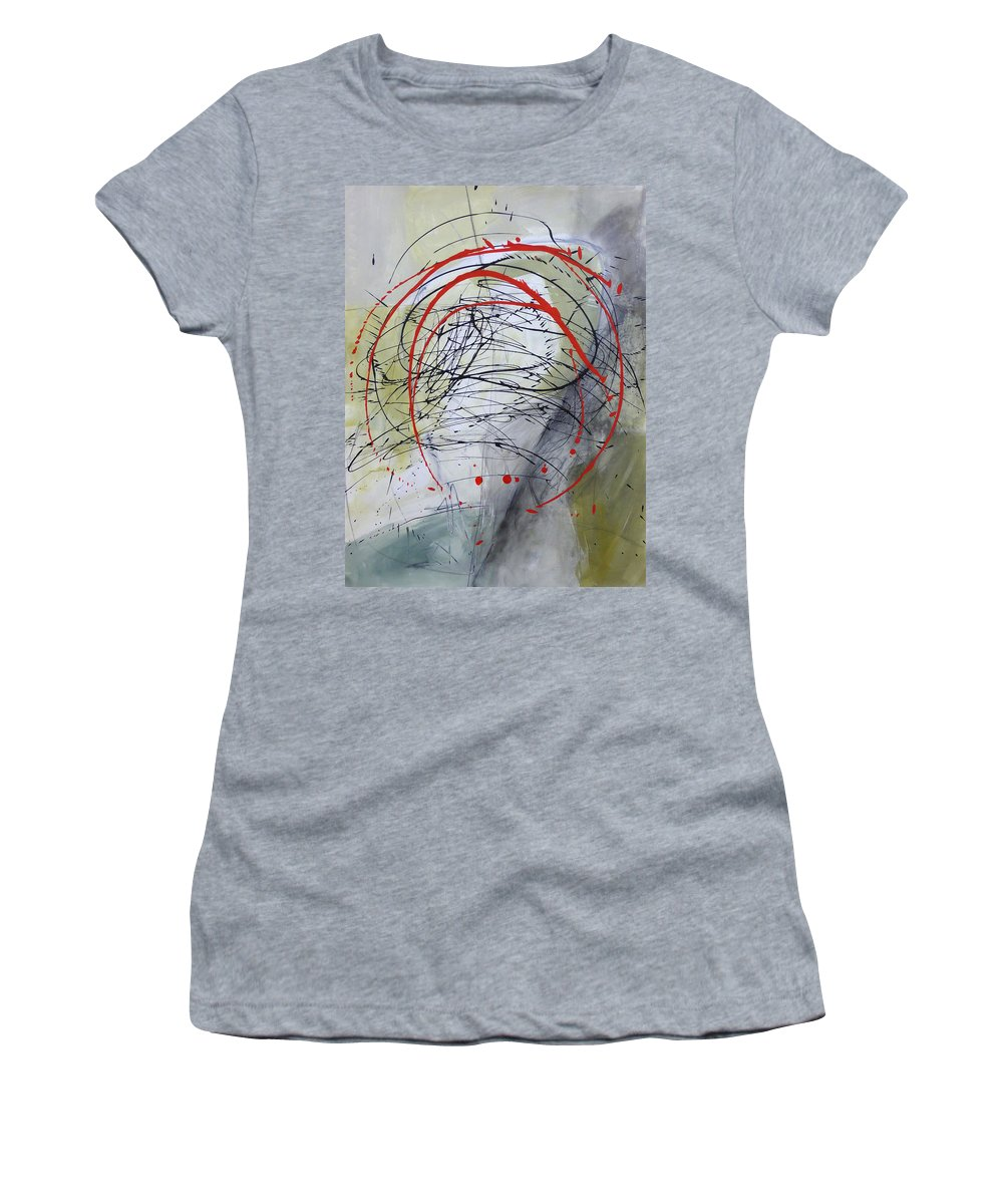 Women's T-Shirt featuring the painting Paint Solo 4 by Jane Davies