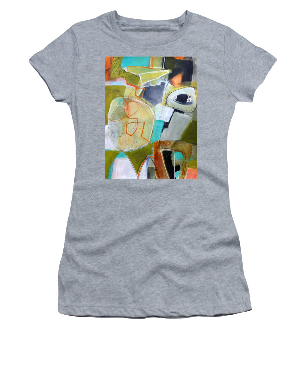 Keywords: Abstract Women's T-Shirt featuring the painting Paint Solo 9 by Jane Davies