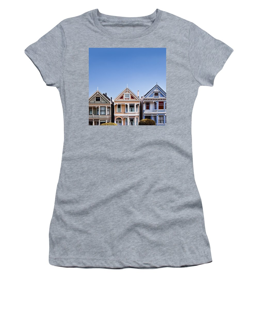 Painted Ladies Women's T-Shirt (Athletic Fit) featuring the photograph Painted Ladies by Dave Bowman