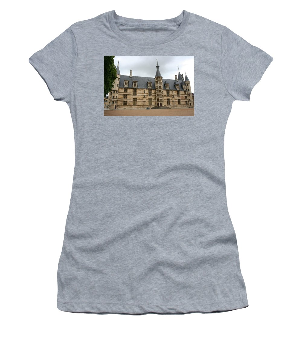 Palace Women's T-Shirt (Athletic Fit) featuring the photograph Palace Ducal Nevers by Christiane Schulze Art And Photography
