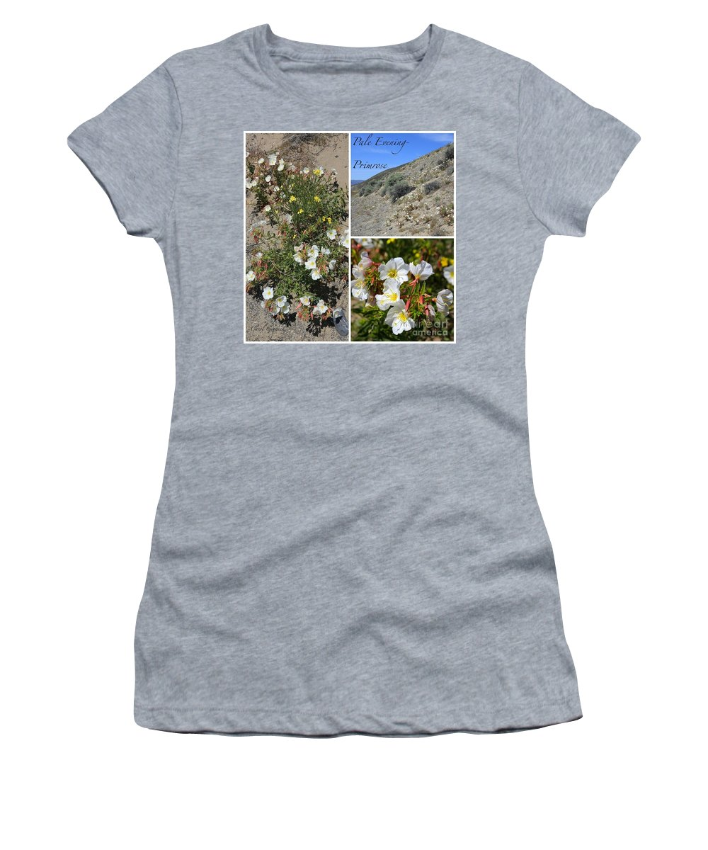 Pale Evening-primrose Women's T-Shirt featuring the photograph Pale Evening-primrose by Carol Groenen