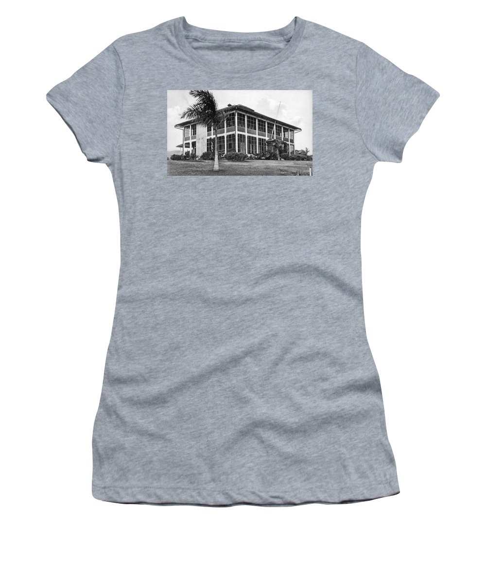 1910 Women's T-Shirt (Athletic Fit) featuring the photograph Panama Canal Engineer by Granger