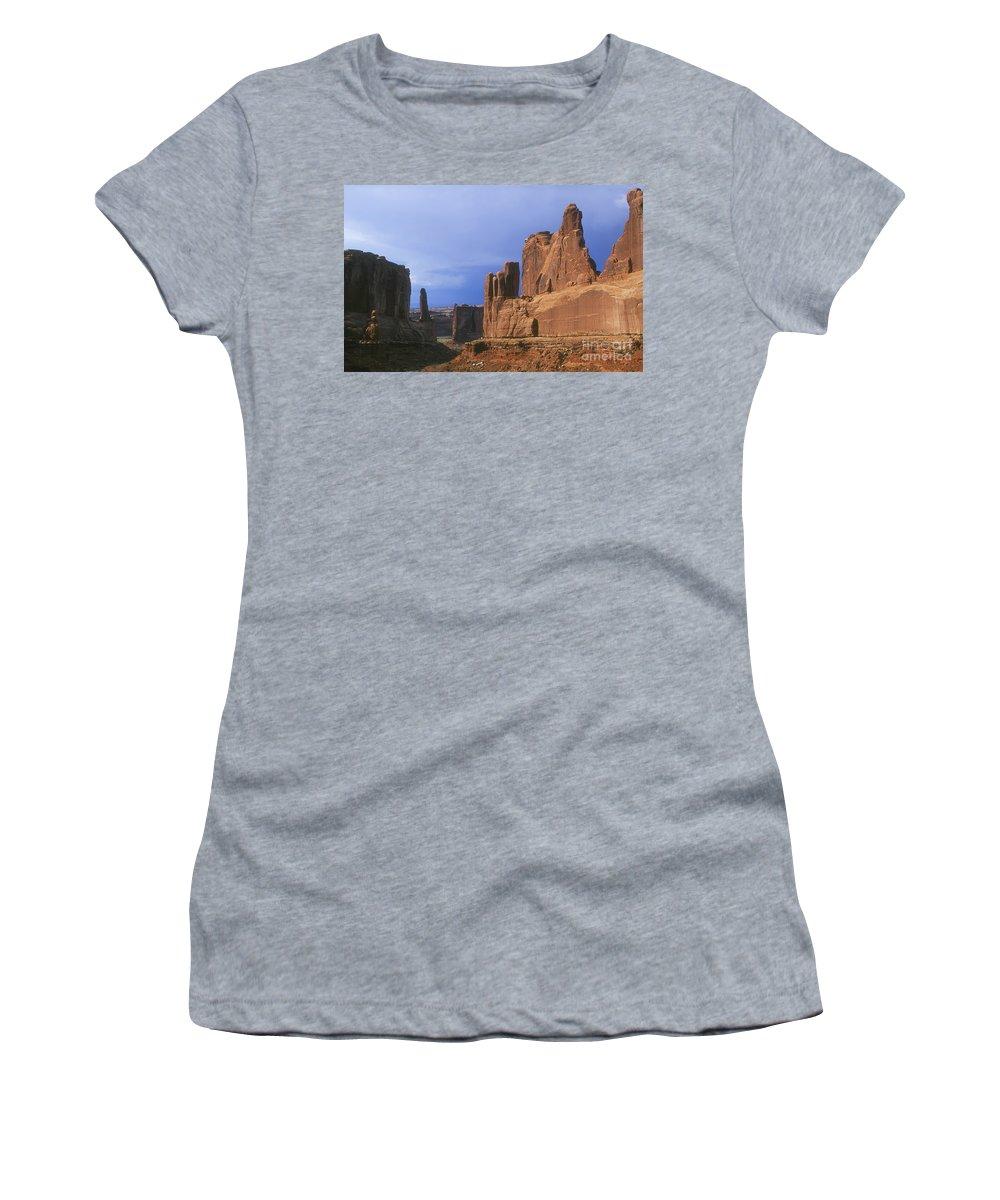 Park Avenue Women's T-Shirt (Athletic Fit) featuring the photograph Park Avenue by David Davis