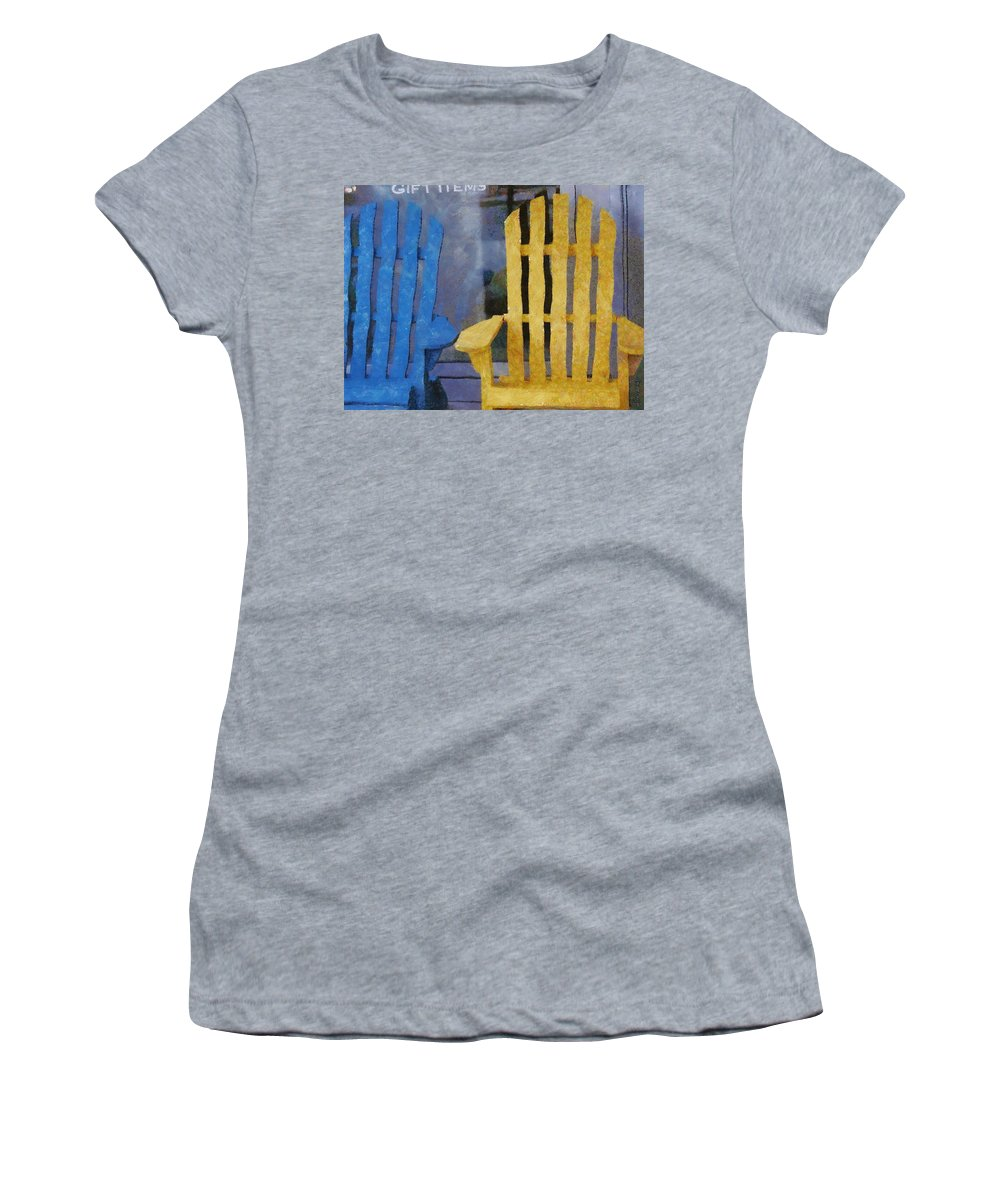 Chair Women's T-Shirt (Athletic Fit) featuring the painting Parking Spot by Jeffrey Kolker
