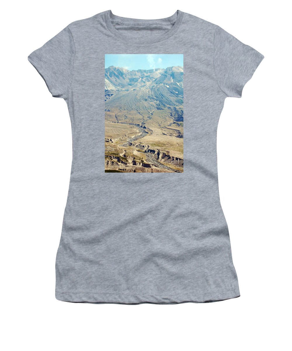 Valley Women's T-Shirt featuring the photograph Path Of Destruction by Flamingo Graphix John Ellis