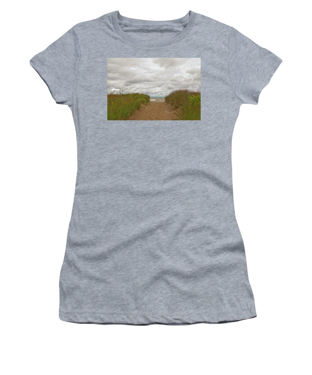 Landscape Women's T-Shirt featuring the photograph Path To The Beach 12058 by Guy Whiteley