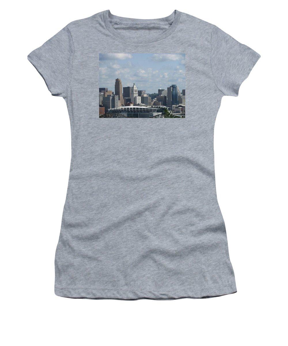 Paul Brown Stadium Women's T-Shirt featuring the photograph Paul Brown Stadium by Ellen Meakin