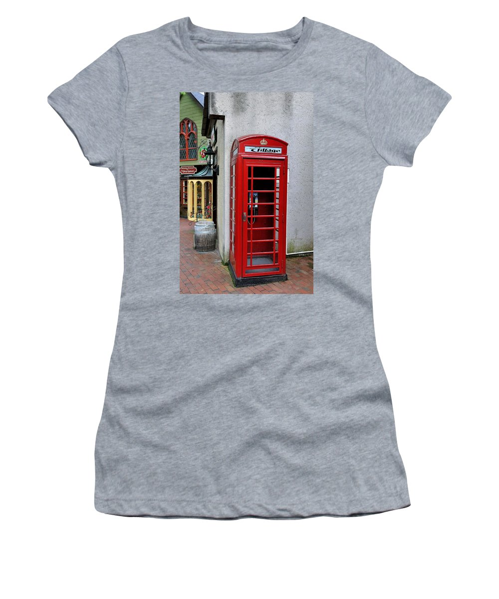 Pay Phone Women's T-Shirt featuring the photograph Pay Phone by Todd Hostetter