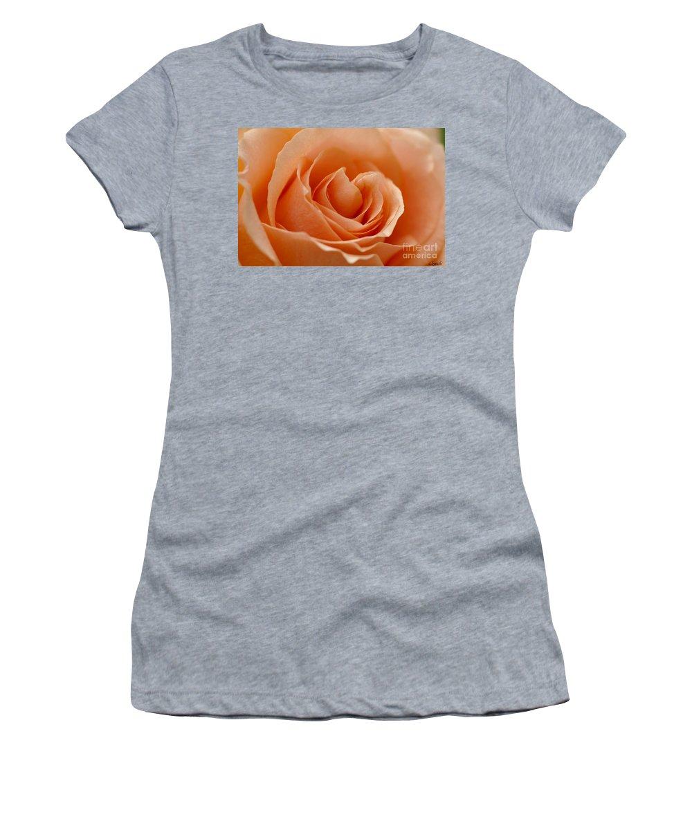 Peach Women's T-Shirt featuring the photograph Peach by Carol Lynch