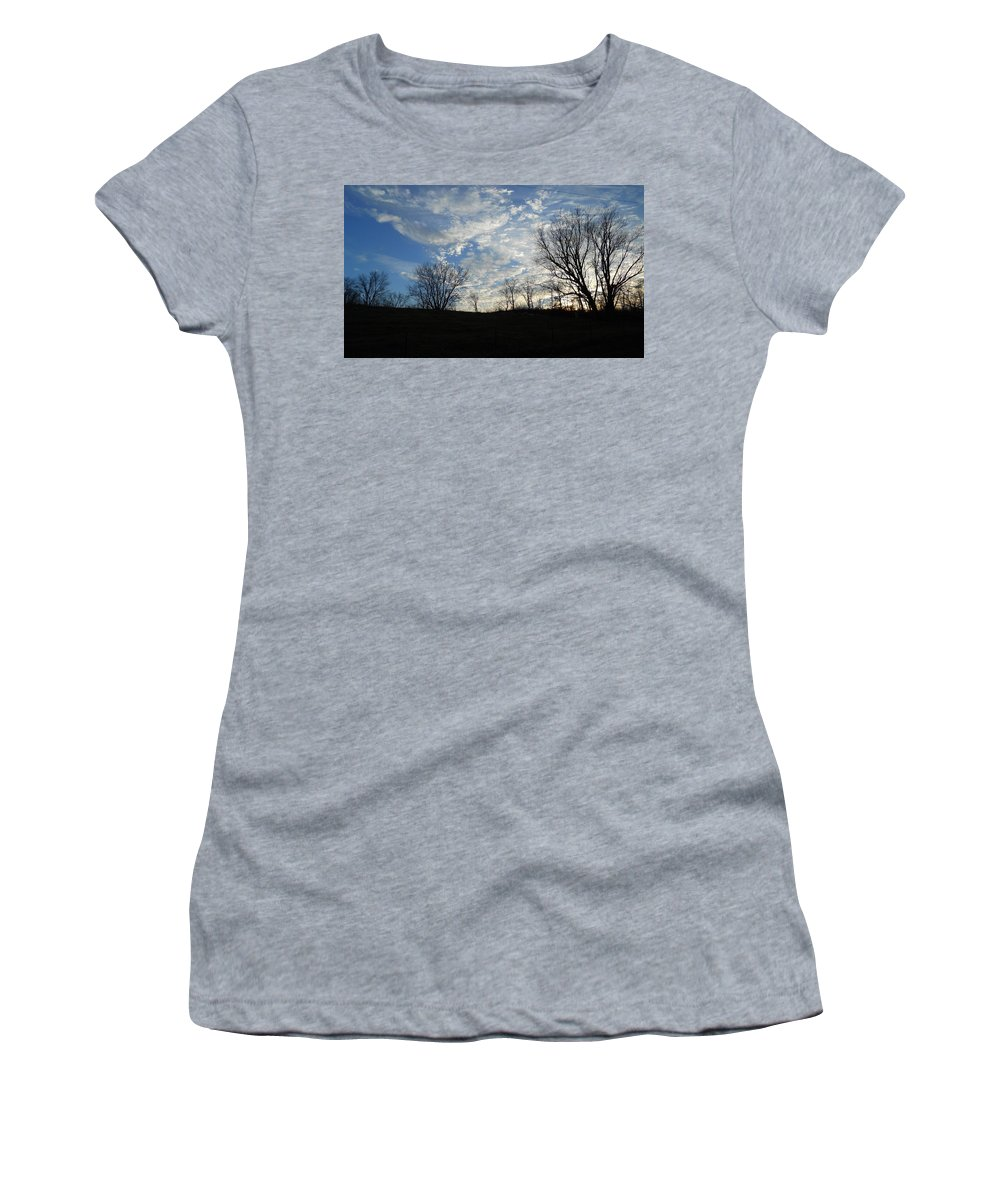 Skylines Women's T-Shirt (Athletic Fit) featuring the photograph Peek-a-boo by Coleen Harty