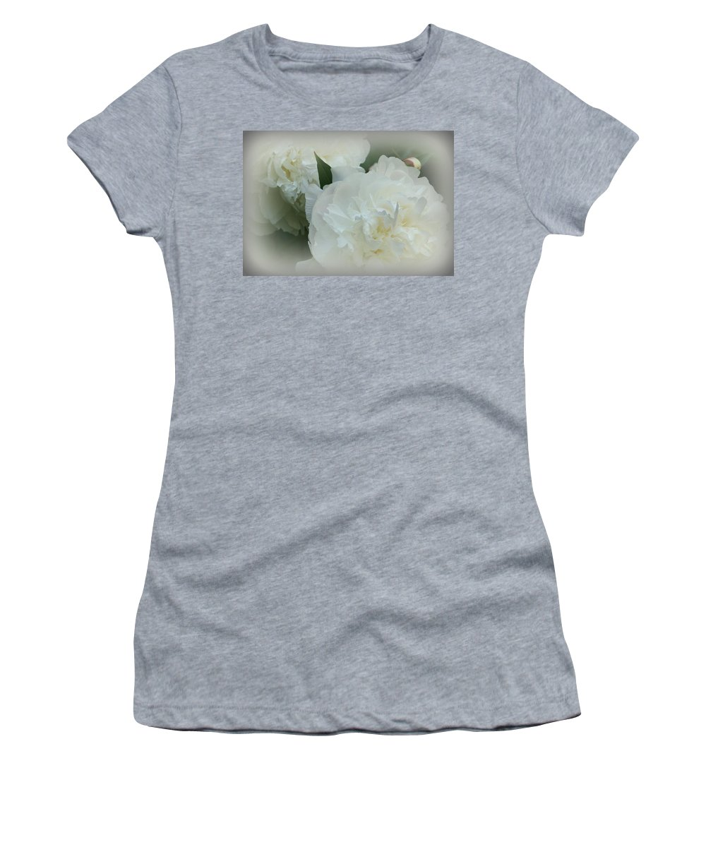 Flowers Women's T-Shirt featuring the photograph Peony Soft by Barbara S Nickerson