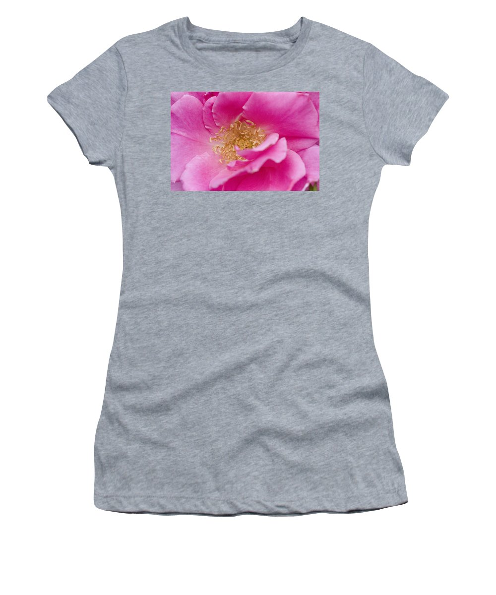 Rose Photographs Women's T-Shirt featuring the photograph Petal Pink by Vernis Maxwell