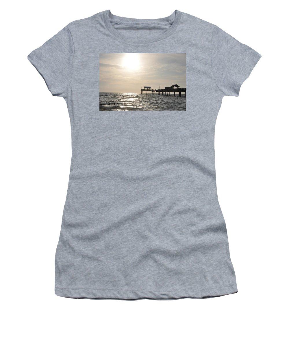 Pier 60 At Near Sunset Women's T-Shirt featuring the photograph Pier 60 Near Sunset by Bill Cannon