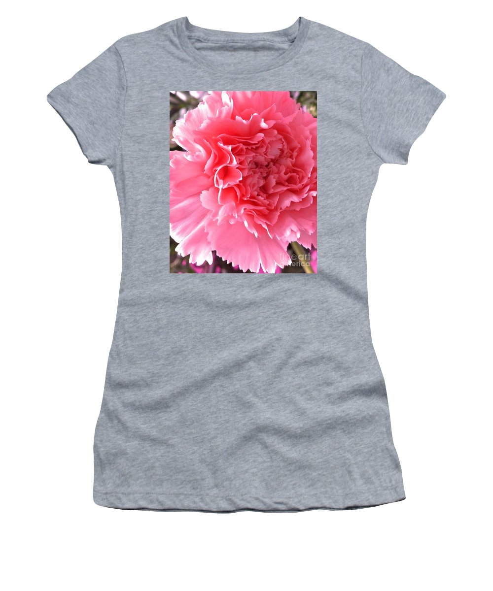 Pink Women's T-Shirt featuring the photograph Pink Flower by Lisa Byrne