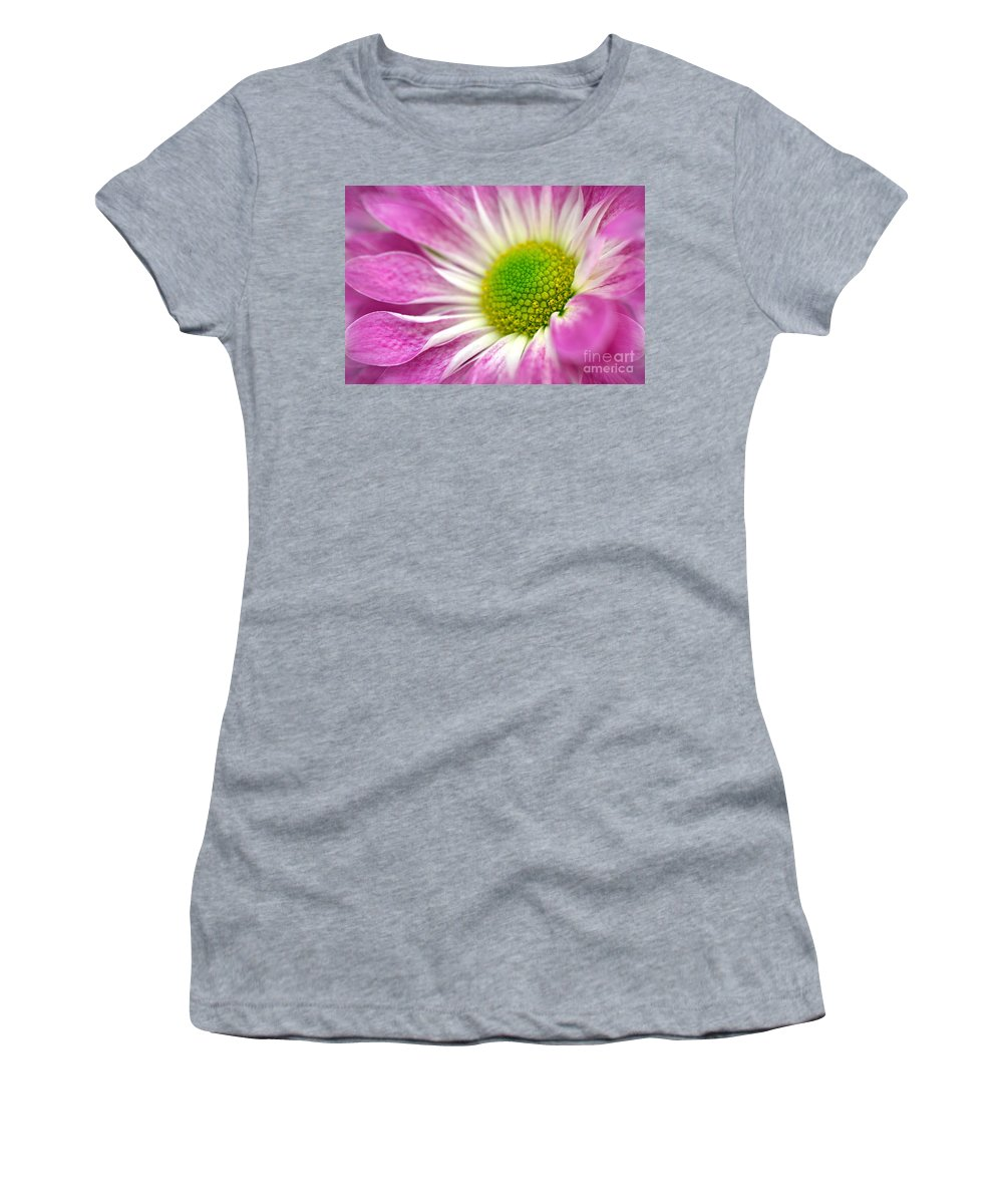 Pink Daisy Women's T-Shirt featuring the photograph Pink Hope by Deb Halloran