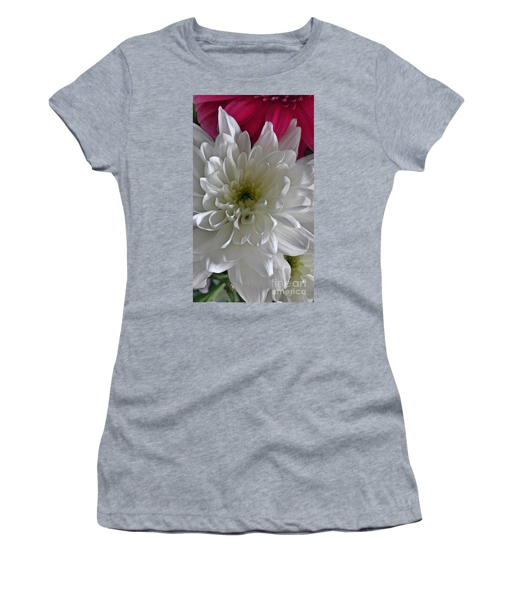 Pink Women's T-Shirt featuring the photograph Pink On Top by Lisa Byrne