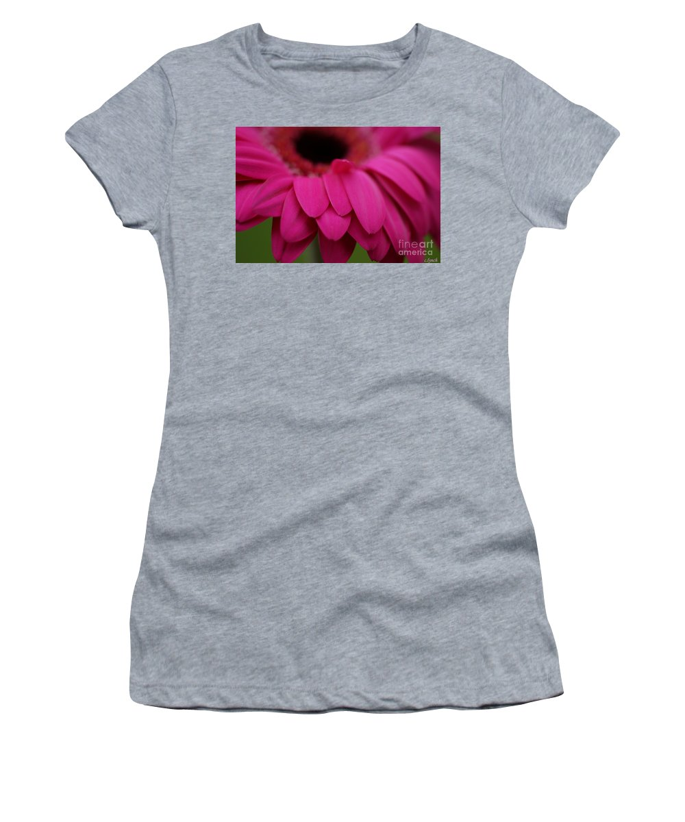 Pink Women's T-Shirt featuring the photograph Pink Petals by Carol Lynch