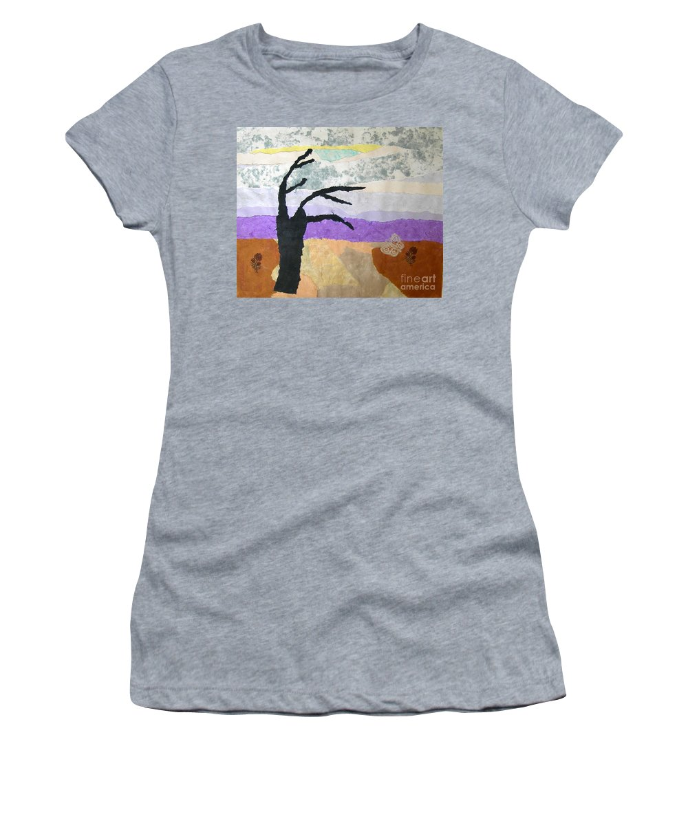 Pipal Tree Women's T-Shirt featuring the painting Pipal Tree by Mini Arora
