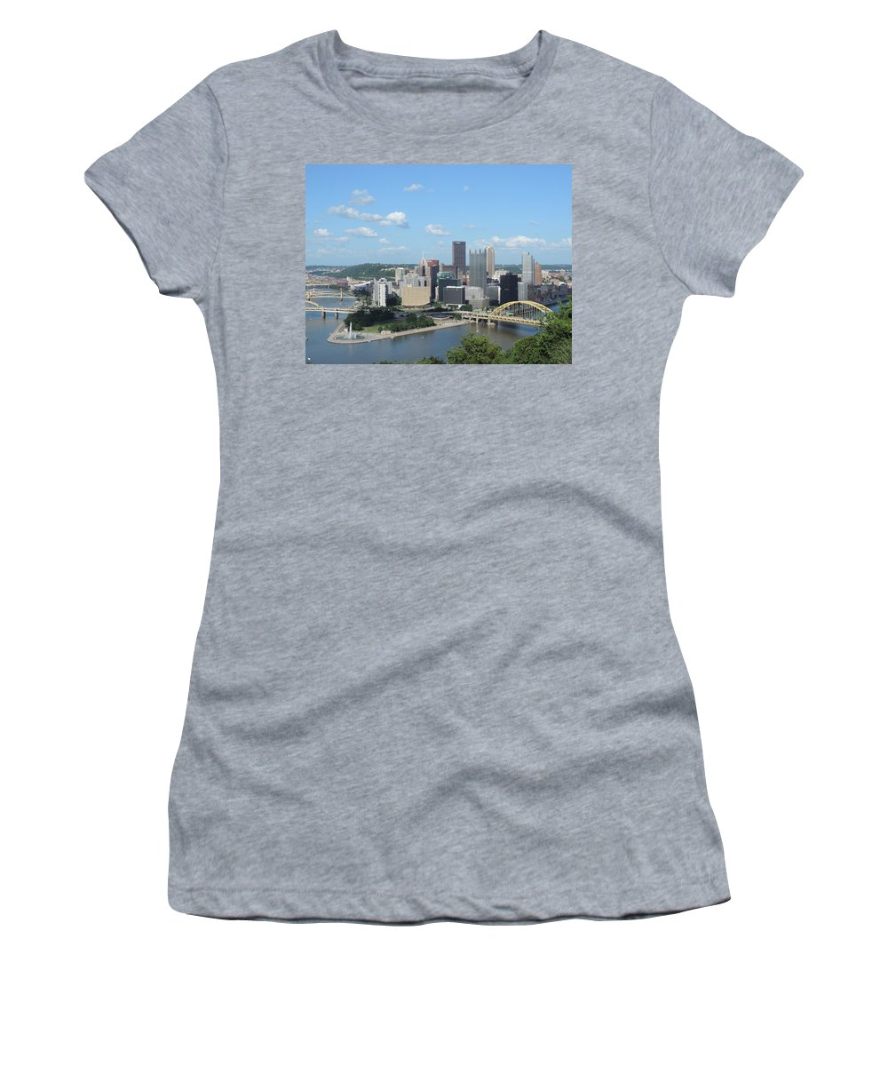 City Women's T-Shirt featuring the photograph Pittsburgh Skyline From Mount Washington by Cityscape Photography
