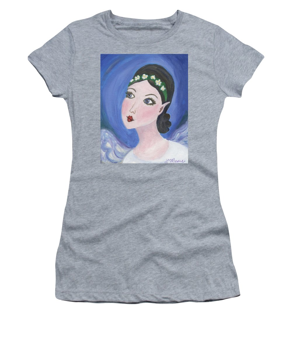 Pixie Women's T-Shirt (Athletic Fit) featuring the painting Pixie Two by Linda Mears