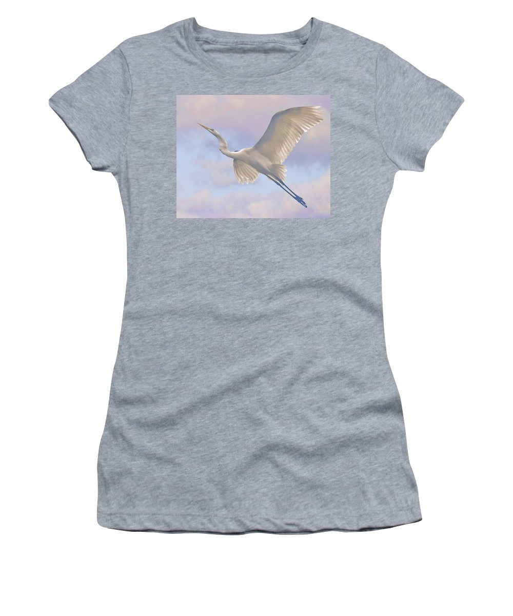 Bird Women's T-Shirt featuring the photograph Point Me In The Right Direction by Leslie Reagan - Joy To The Wild Photos