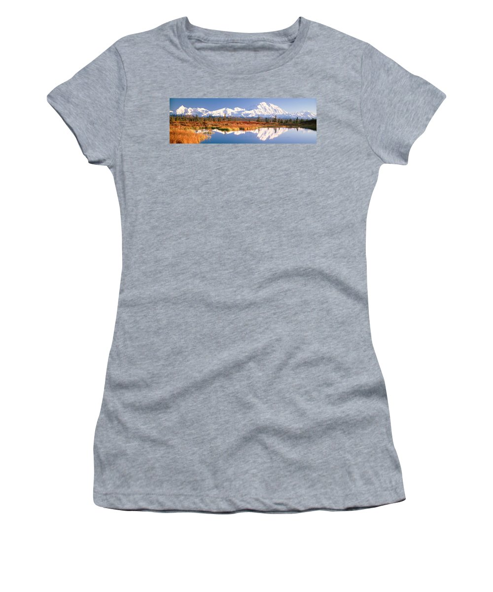 Photography Women's T-Shirt featuring the photograph Pond, Alaska Range, Denali National by Panoramic Images