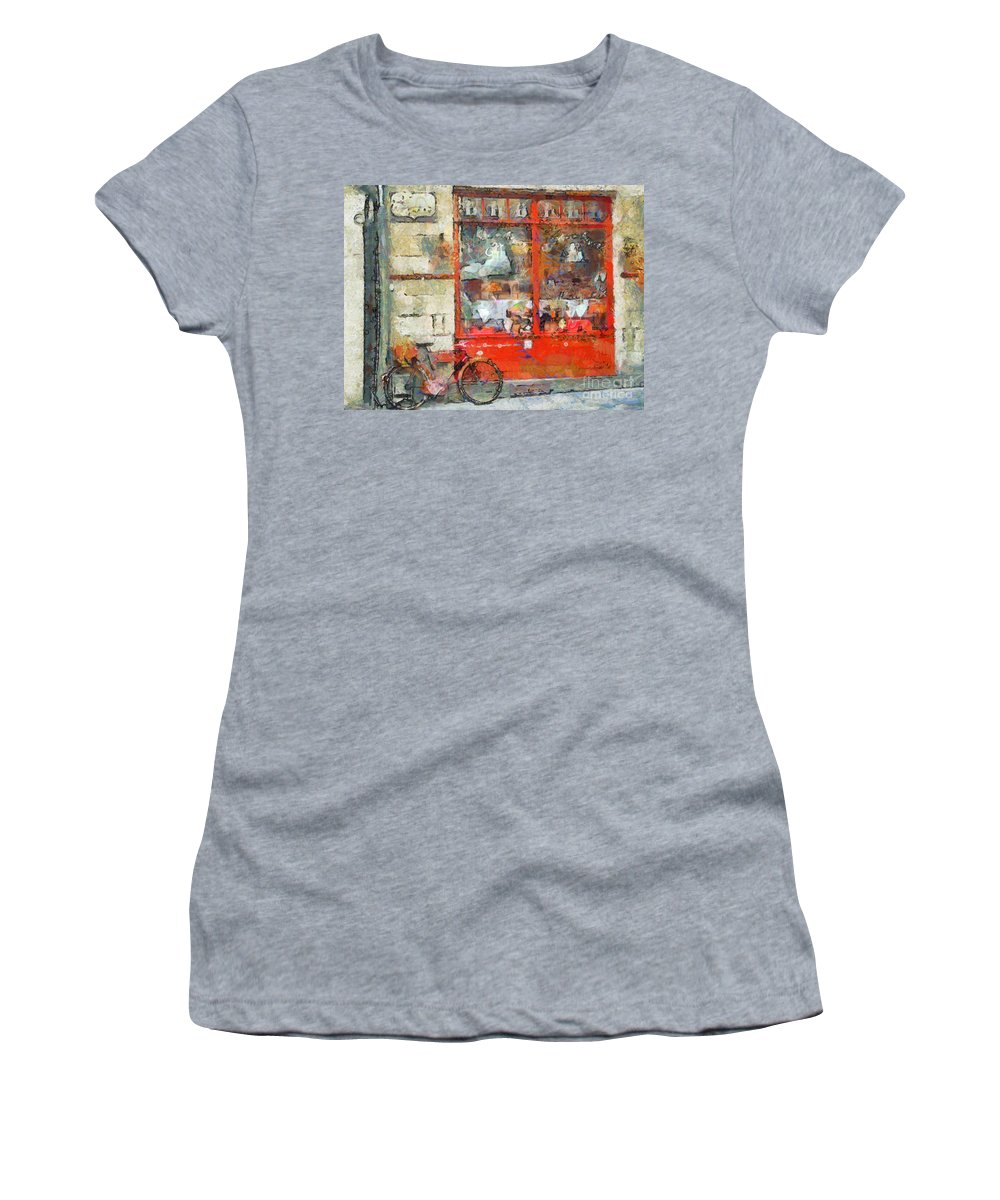Bicycle Women's T-Shirt featuring the photograph Postcard Perfect by Claire Bull