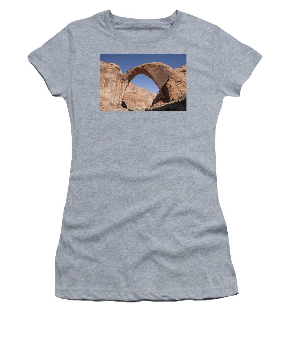Rainbow Women's T-Shirt featuring the photograph Rainbow Bridge by Monty Cook