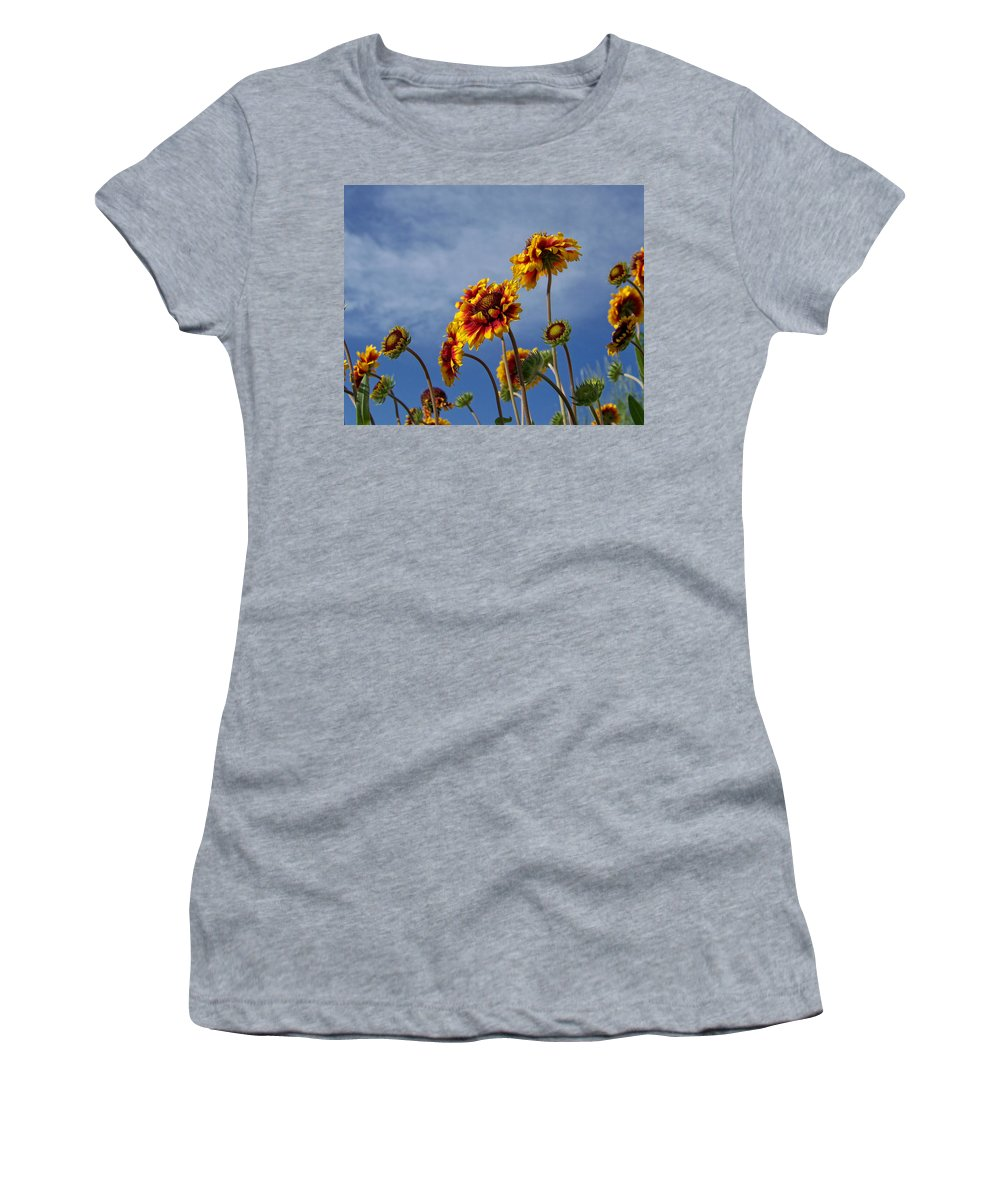 Flora Women's T-Shirt (Athletic Fit) featuring the photograph Reaching For The Sky by Ernie Echols