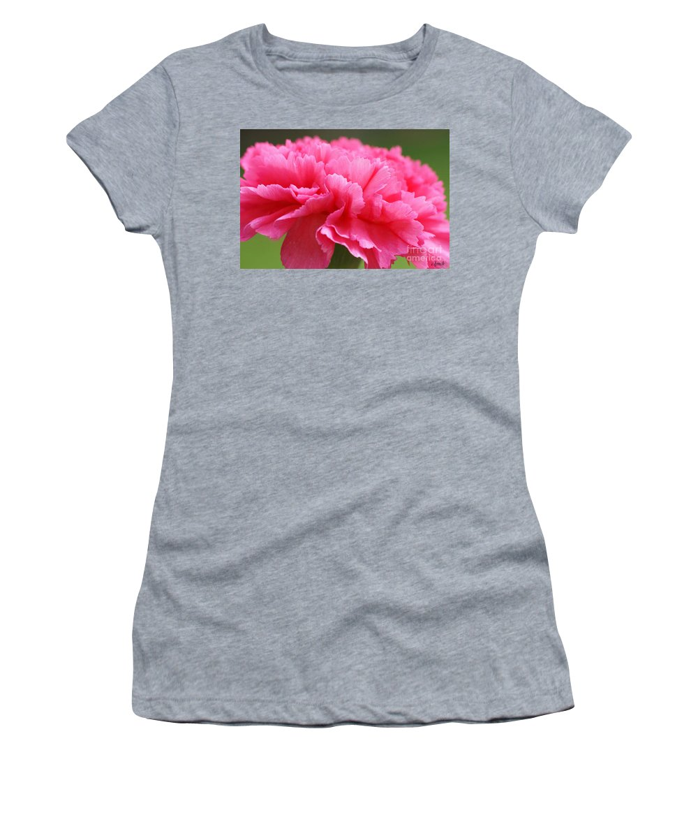 Carnation Women's T-Shirt featuring the photograph Red Carnation by Carol Lynch