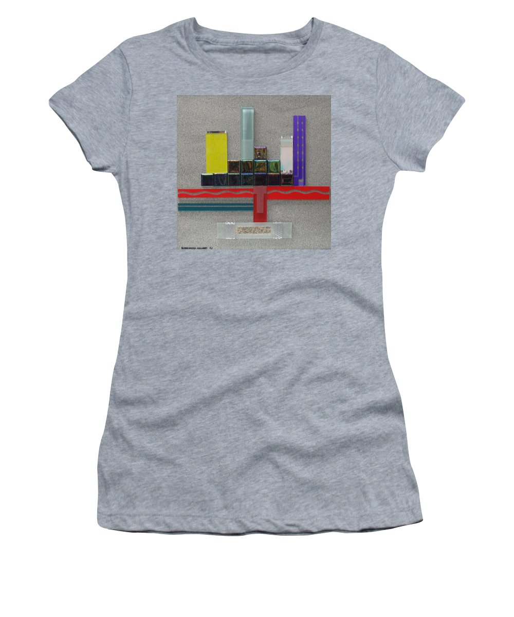 Assemblage Women's T-Shirt featuring the relief Red River City by Elaine Booth-Kallweit