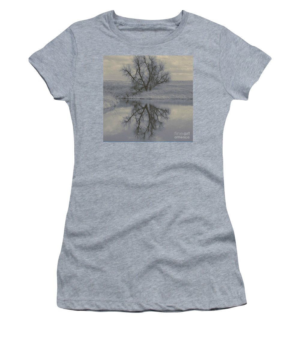 Tree Women's T-Shirt (Athletic Fit) featuring the photograph Reflection by Brandi Maher