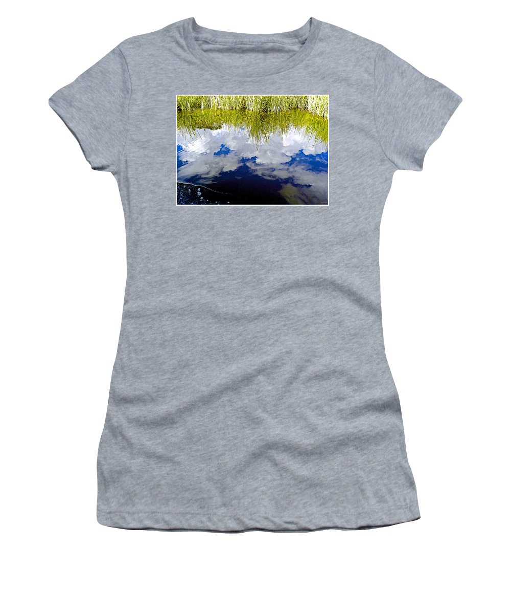 Reflection Women's T-Shirt featuring the photograph Reflections by Barbara Zahno