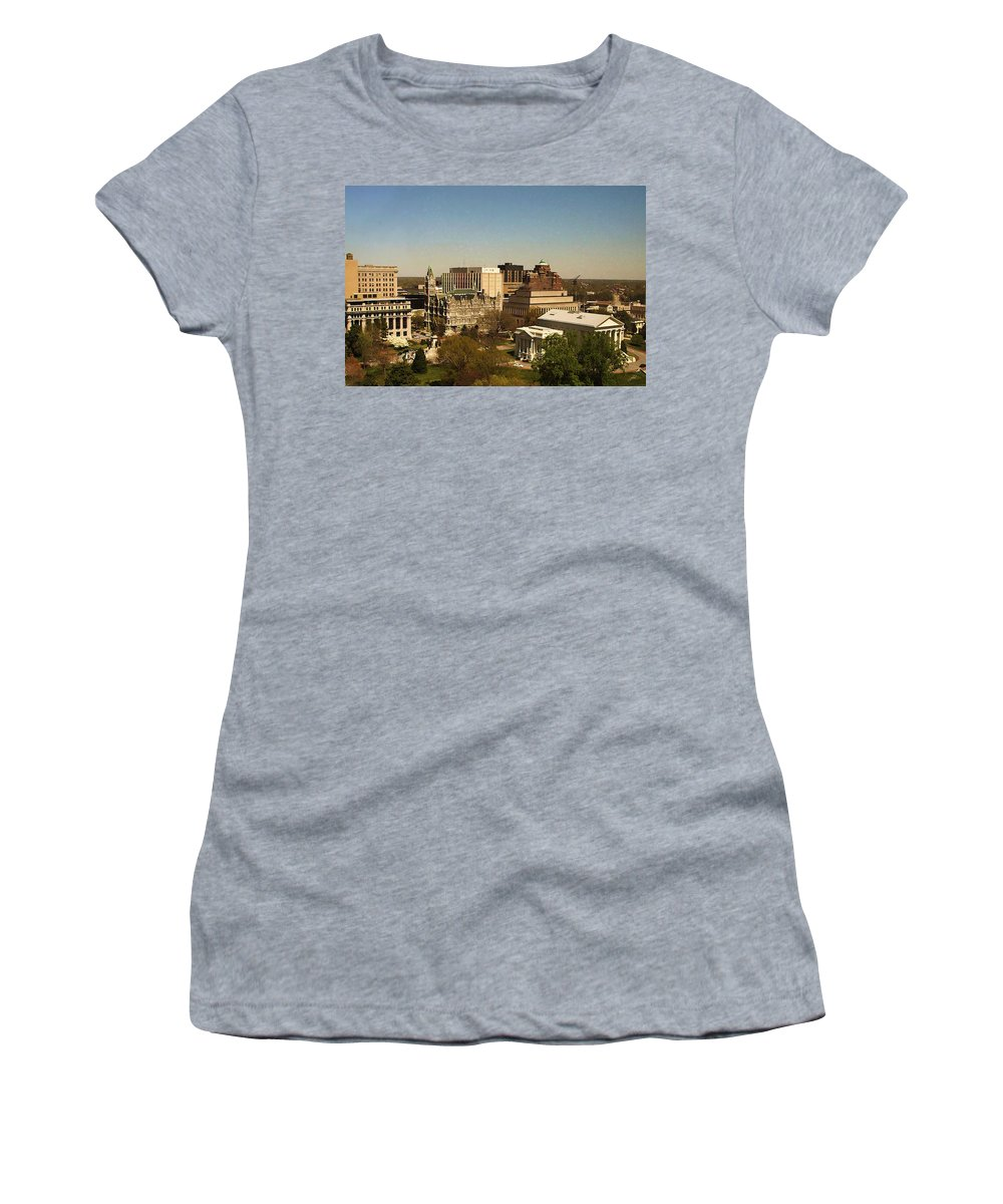 Nature Women's T-Shirt featuring the photograph Richmond Virginia - Old And New Capitol Buildings by Paulette B Wright
