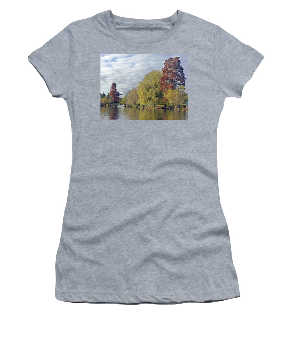 River Avon Women's T-Shirt featuring the photograph River Avon In Autumn by Tony Murtagh