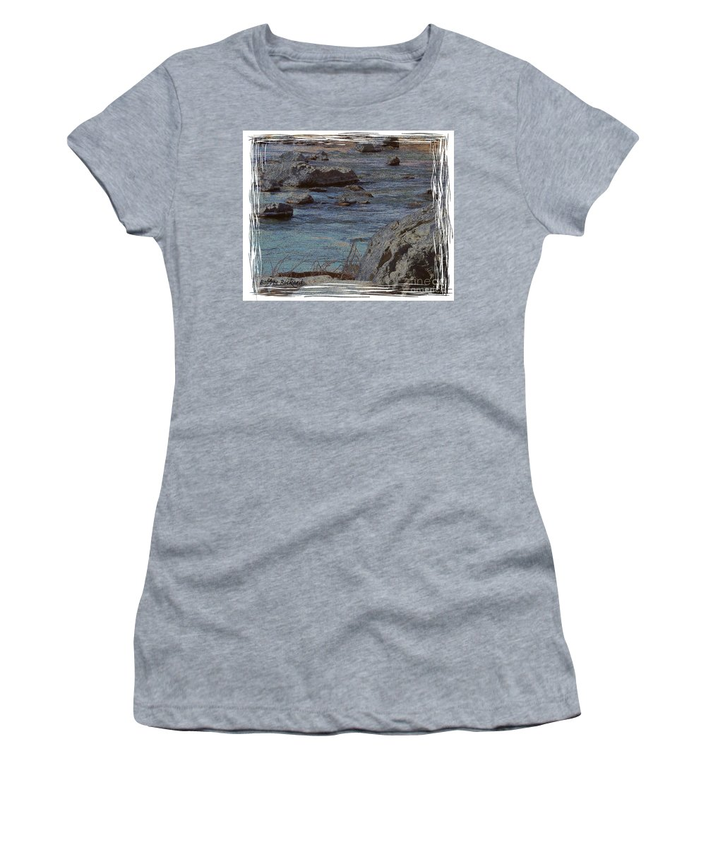 Truckee River Women's T-Shirt (Athletic Fit) featuring the photograph River Flows by Bobbee Rickard