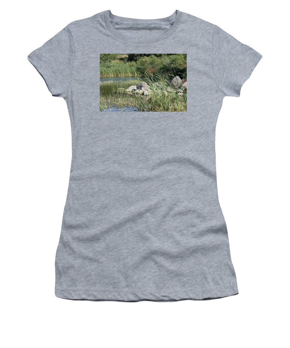 Rocks Women's T-Shirt featuring the photograph Rock Pile by Lori Tordsen