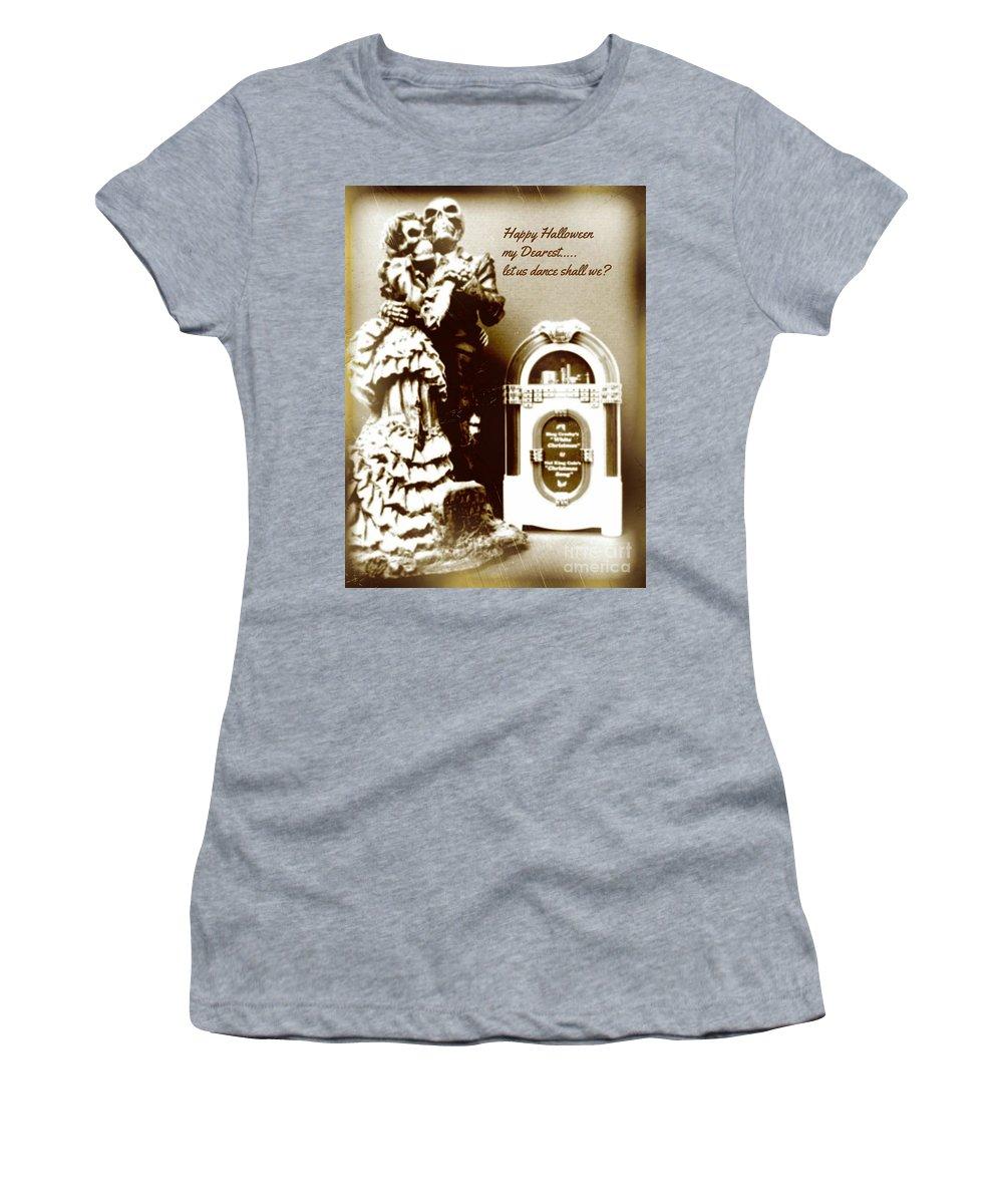 Halloween Women's T-Shirt featuring the photograph Romance Never Dies by John Malone